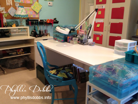 Studio crafting and work area