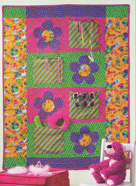 Its an easy-to-make quilt that would be perfect for kids and teens because