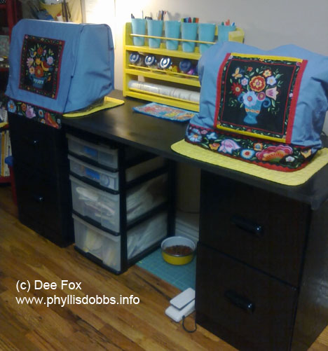 Dee Fox painted filing cabinets