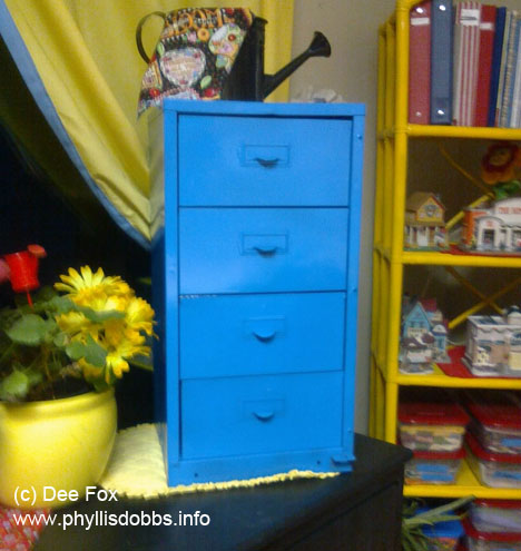 Old cabinet used to store fat quarters
