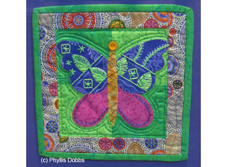Butterfly Block designed by Phyllis Dobbs for The DMC Corp.