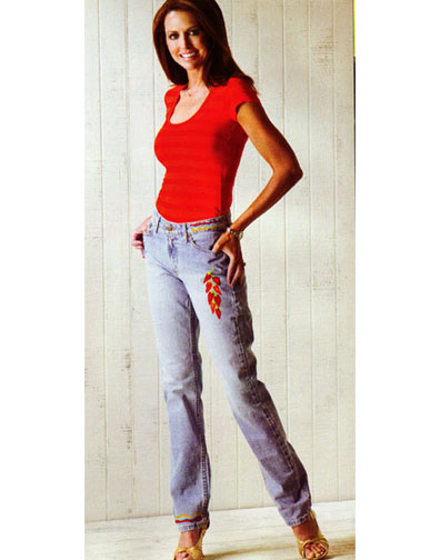 Chili Pepper Embroidered Jeans
