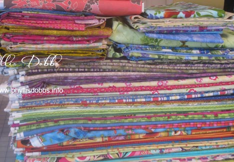Fabric stash for quilt book