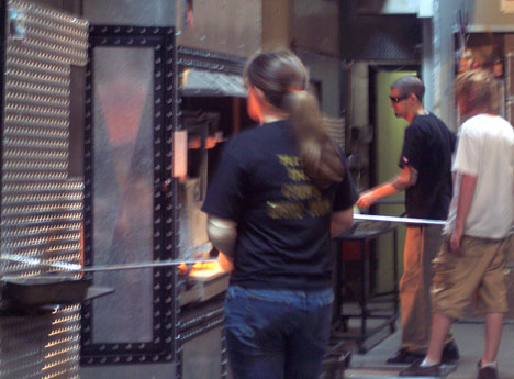 Furnaces at the Seattle Glassblowing Studio