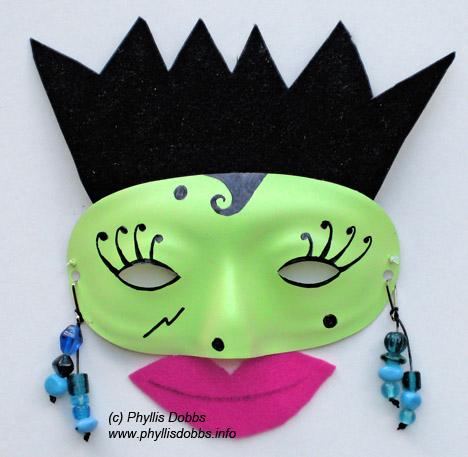 Make an easy Halloween mask – Phyllis Dobbs Blog