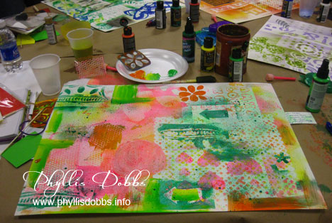 Phyllis Dobbs  art Journal page