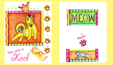 Kool Cat greeting card