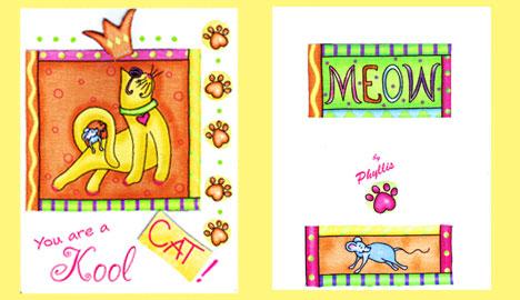 Kool Cat greeting card