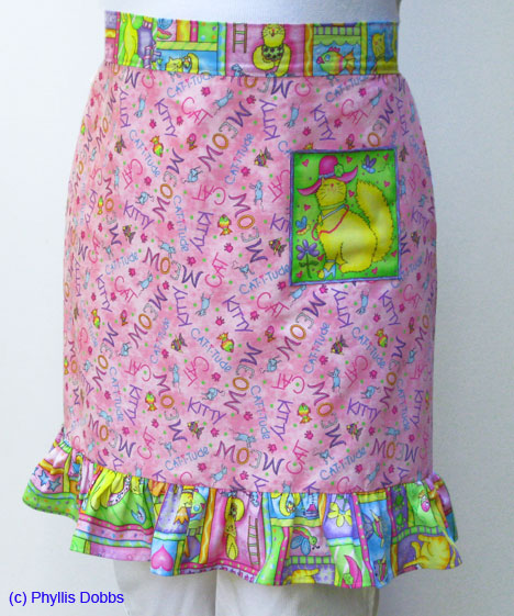 Apron made with cat fabric