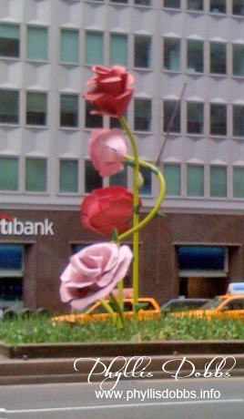 Park Avenue Rose Sculpture