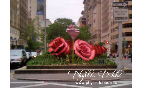 Rose sculpture in NYC