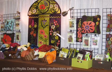 Woolylady booth at the International Quilt Market