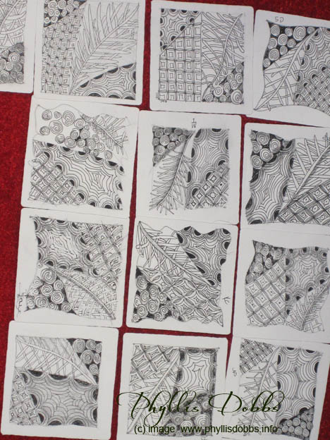 Zentangles created during demo